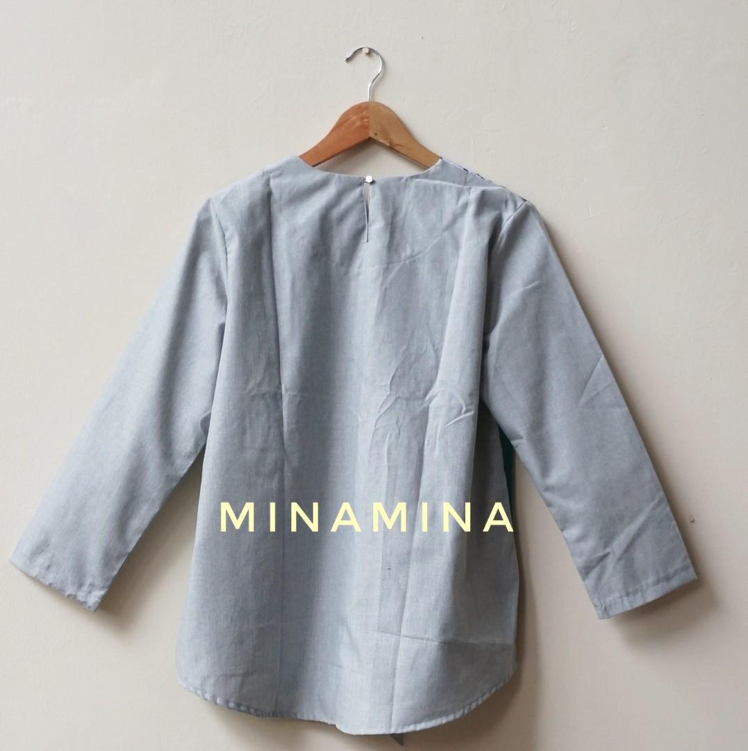 [NEW] Baju Atasan Kerja Wanita Blouse Batik Modern Stylish GG