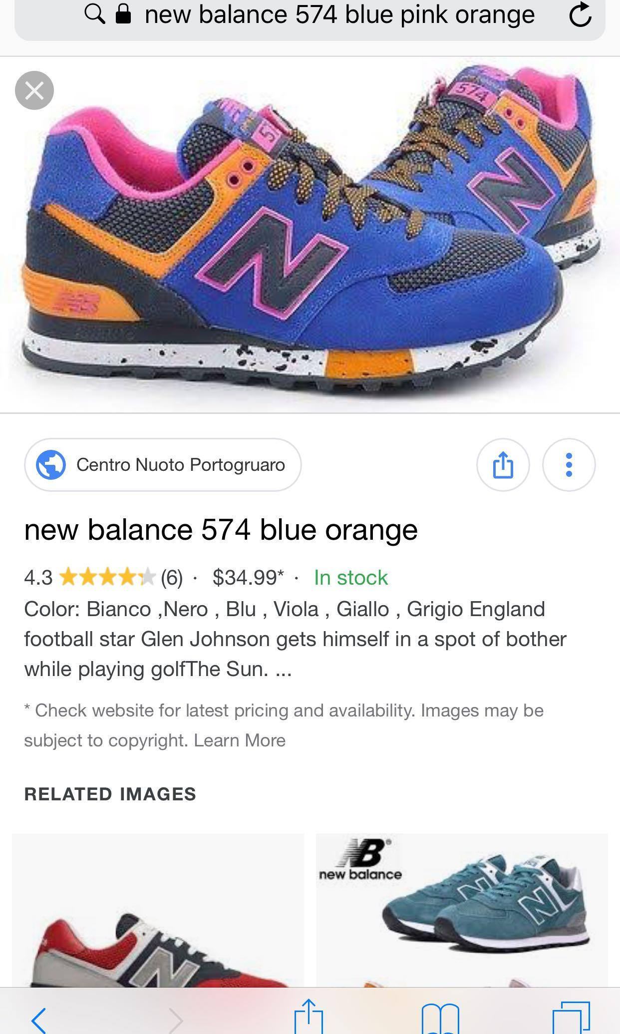 NEW BALANCE 574 blue orange