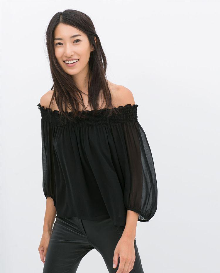 NWT Zara Off-Shoulder Top
