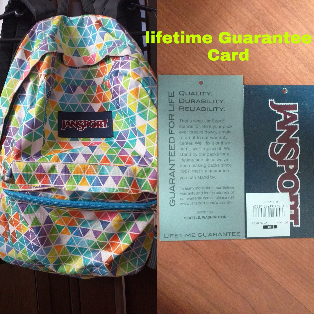 Original Jansport Backpack with Lifetime Guarantee