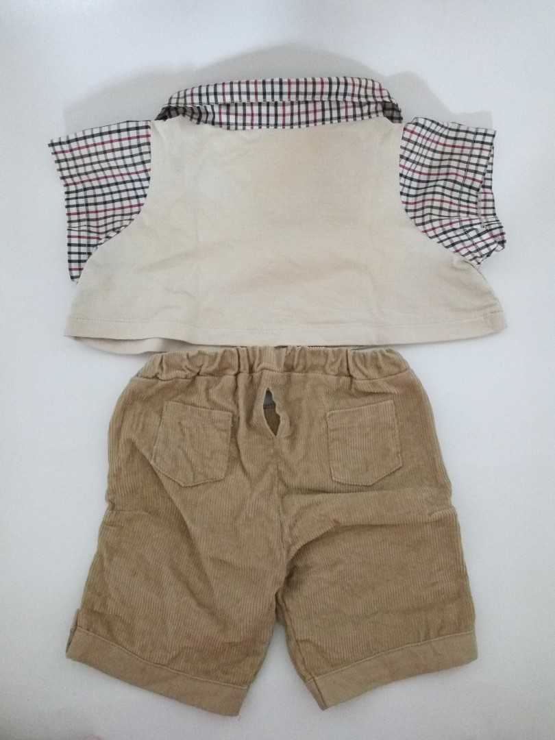 "Pakaian Outfit Teddy Bear Teddy House 25"" Inch Polo Shirt + Pants"