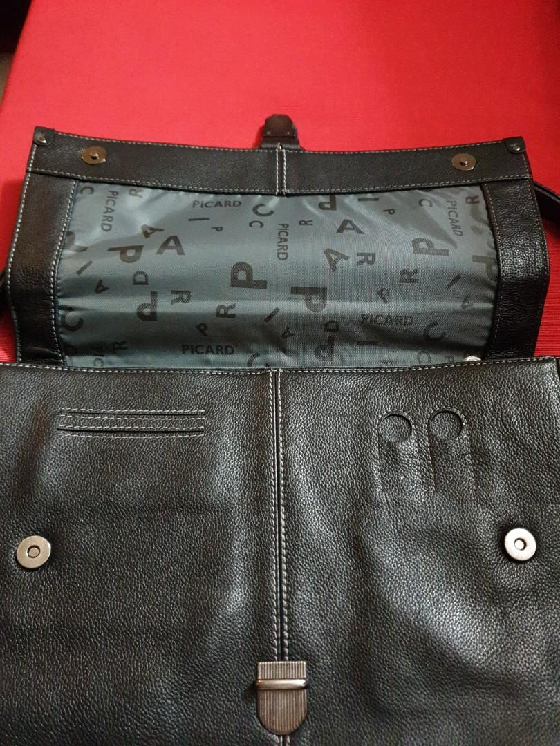 Picard Briefcase black genuine leather