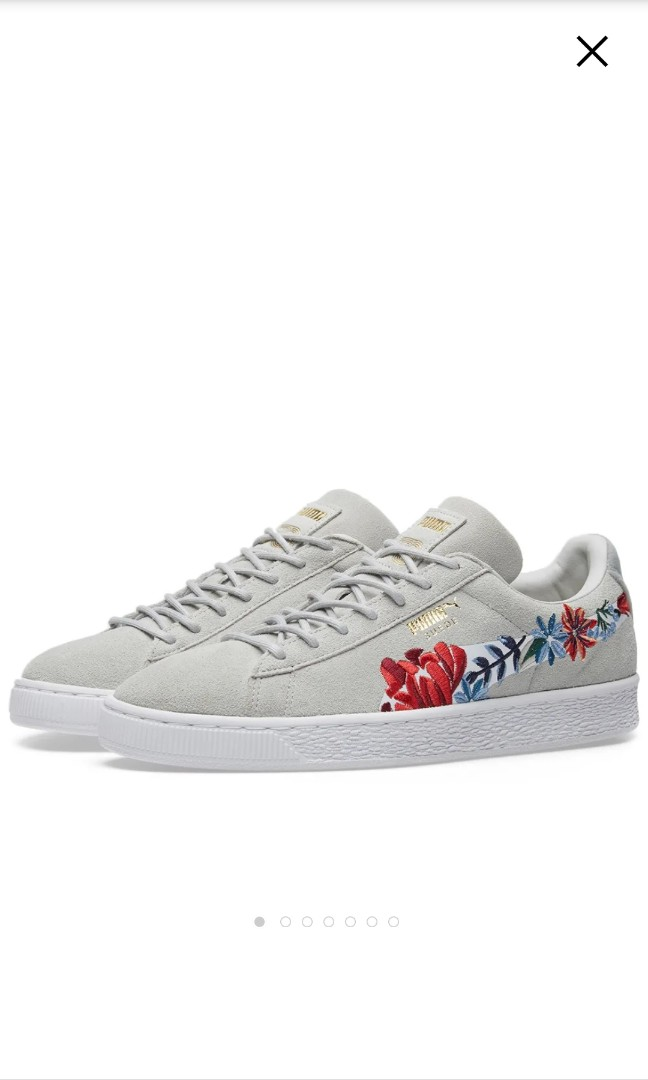 Suede Glacier Classic Embroidered Grey Trainersin Puma 80nkwOP