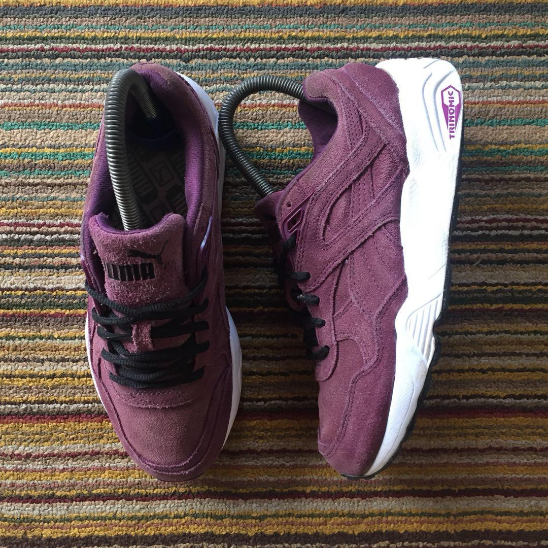 puma trinomic burgundy