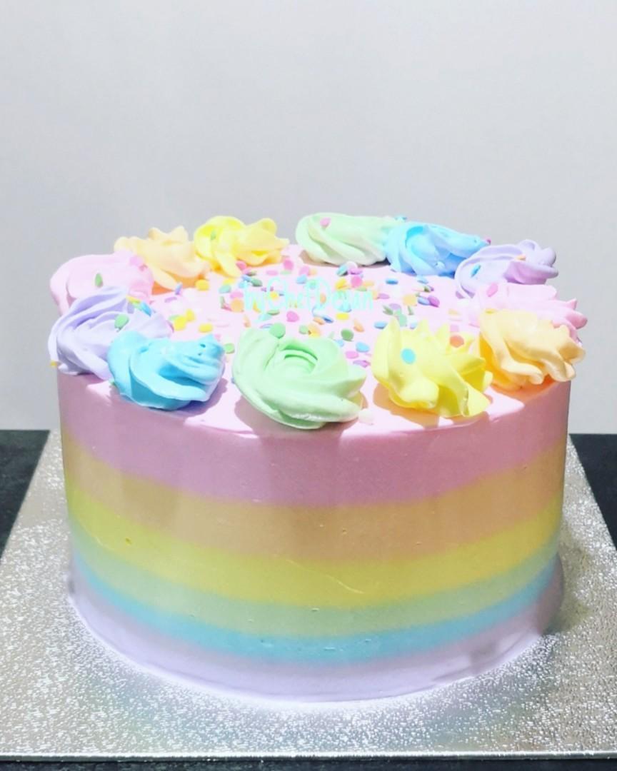 Tremendous Rainbow Birthday Cake Food Drinks Baked Goods On Carousell Funny Birthday Cards Online Hetedamsfinfo