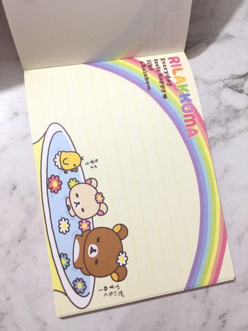 Rilakkuma Memopad memopaper notepad stationery san-x japan