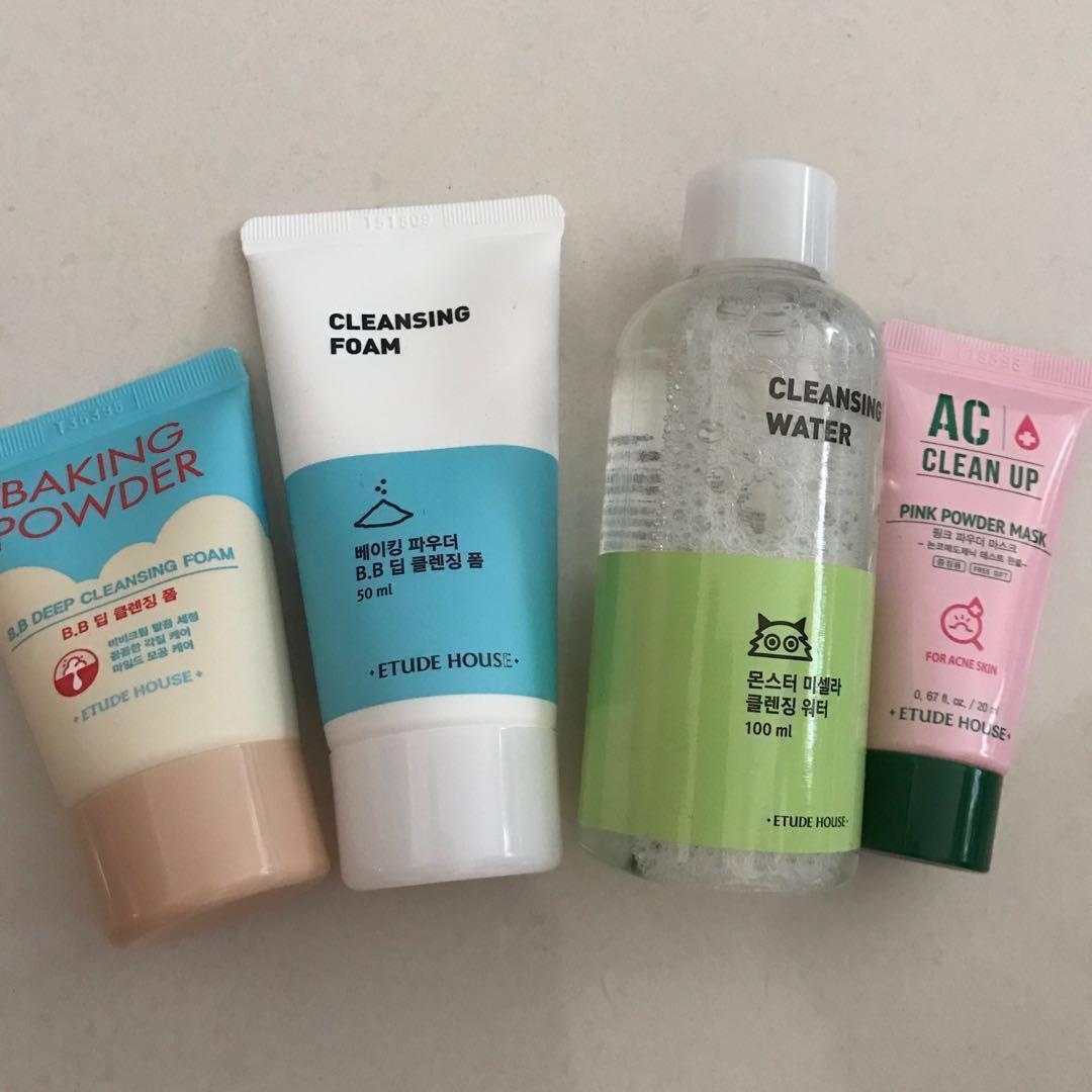 RTP: $38.49 😱Etude House Korean Skin care Cleansing Foam/ Micellar Water/ Acne Mask