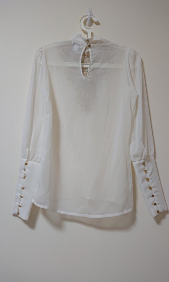 Chifon White Lace Top