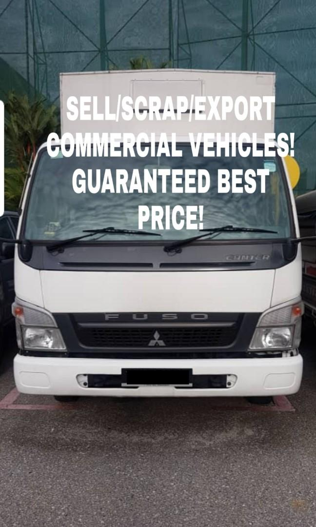 SELL/SCRAP/EXPORT COMMERCIAL VEHICLES
