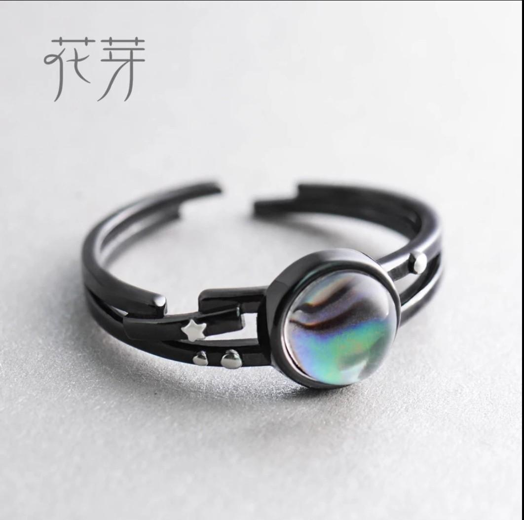 Star Milky Galaxy Astronomy Magical Gemstone 925 Sterling Silver Ring Jewelry