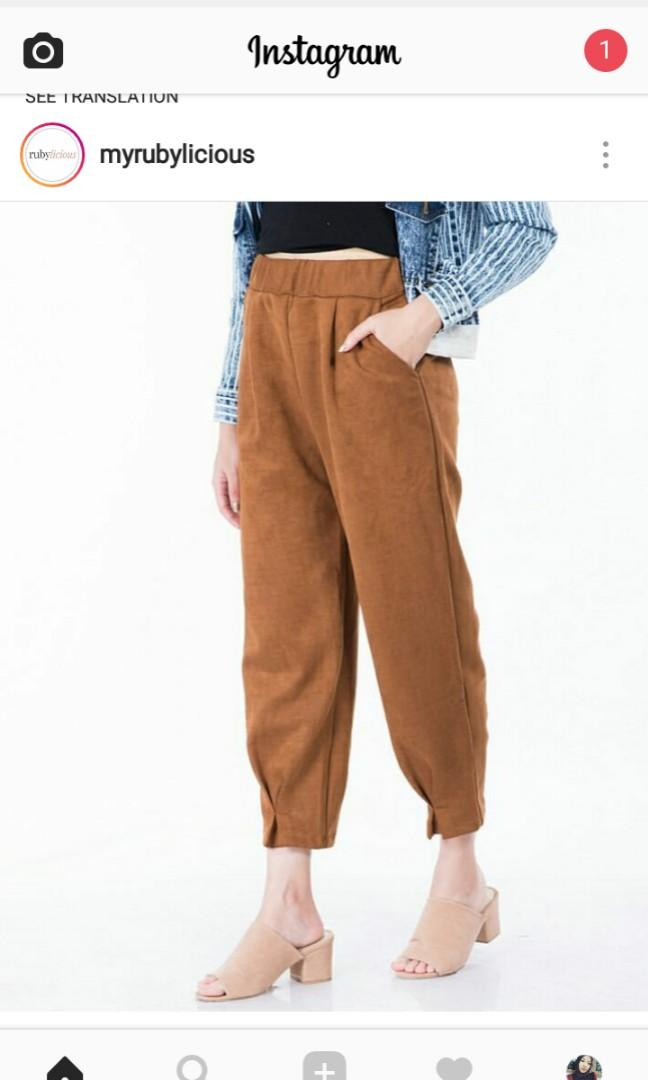 Sueded pants
