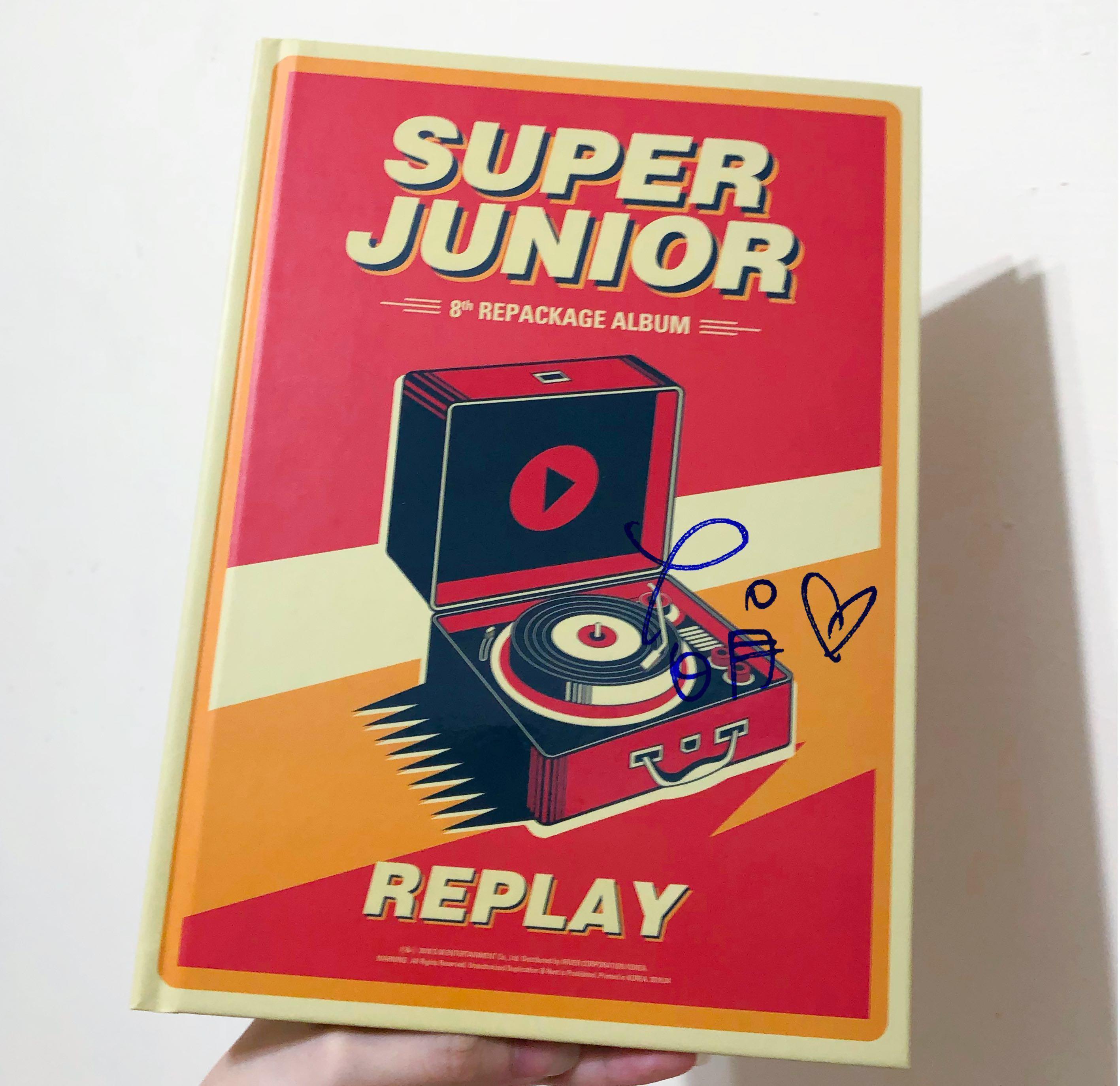 SUPER JUNIOR八輯改版 'REPLAY'普通版 限量版 空專 拆專