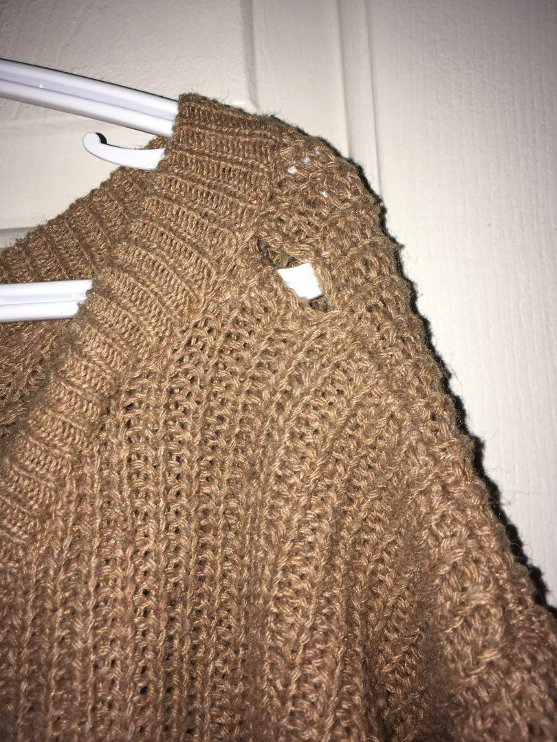 Tan knitted long sleeve