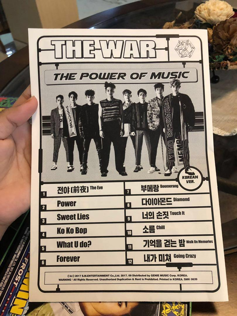 THE WAR EXO ALBUM