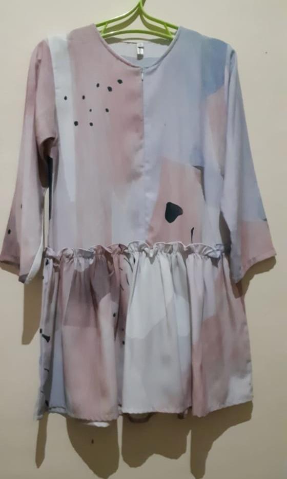 Vanilla Hijab Mididress