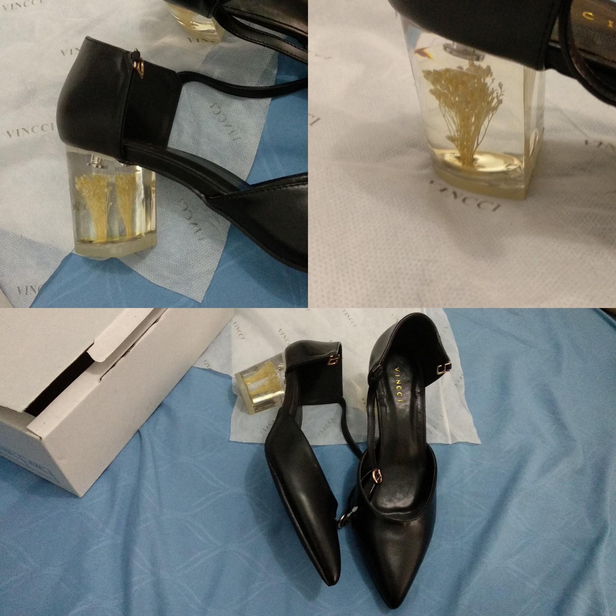 Vincci vnc heels hak pump tahu black hitam