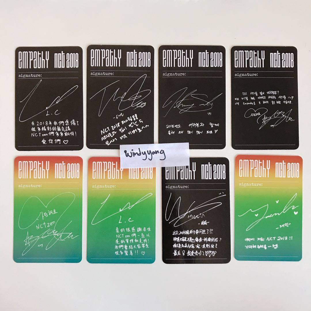 [WTS] NCT 2018 Empathy OFFICIAL Album Photocard