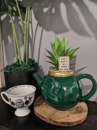 Teapot shape planter