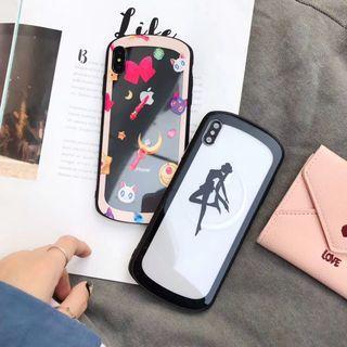 1170美少女戰士月野兔鋼化玻璃IPHONE手機電話殼 IPHONE6 7 8 X PLUS XS XR XS MAX