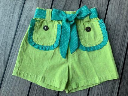 Lime green shorts 螢光黃短褲