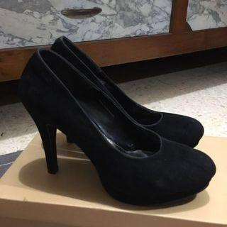 High heels black hitam by Studio Nine