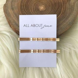 Bobby Pin Gold Hairpin Jepit Poni isi 4pcs Ready Stock