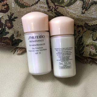 全新 Shiseido BENEFIANCE Wrinkle Resist 24 Day Emulsion 抗老化 日間乳液 day cream sample travel 試用旅行