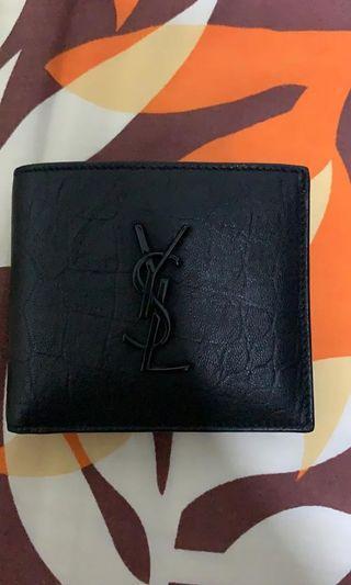 authentic YSL black calf skin wallet