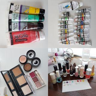 🚚 FREE Art Supplies Giveaway / old paints makeup nail polish