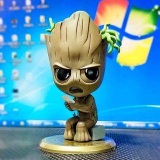 Groot Marvel avengers galaxy guardians figure Q 版模型搖頭公仔