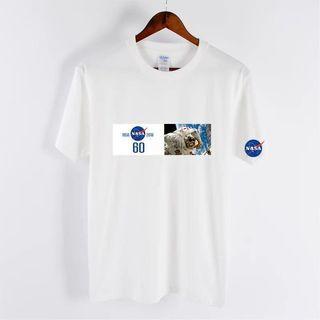 $220@2[三色可選]NASA 美國太空總署圖案印花棉質短袖T恤 t shirt
