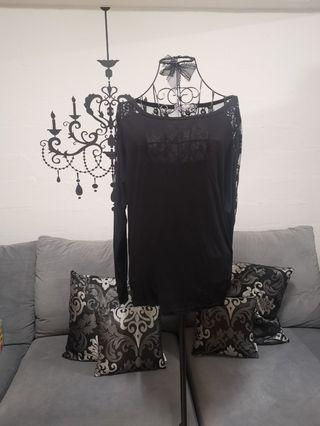 NEW! Black Lace Top From Korea