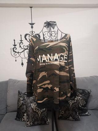NEW! Plus Size Camo Pullover