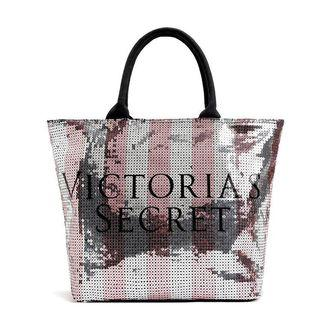 AUTHENTIC VS SEQUIN LOGO LARGE TOTE BAG