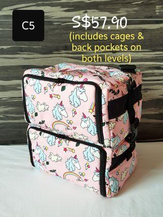 Double-level Bird Carrier Sling Bag (Design C5)