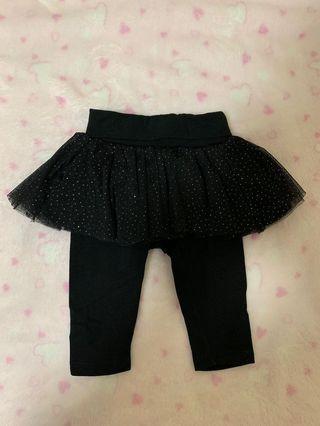 Baby GAP Tutu Legging Black Diamond