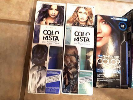 Assorted temporary hair dye