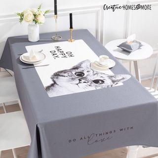 'OH HAPPY DAY' KITTY CAT DINING TABLE CLOTH