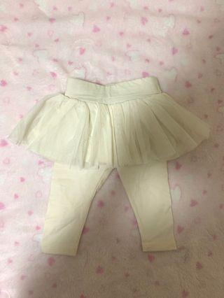 Baby GAP Tutu Legging Classic White