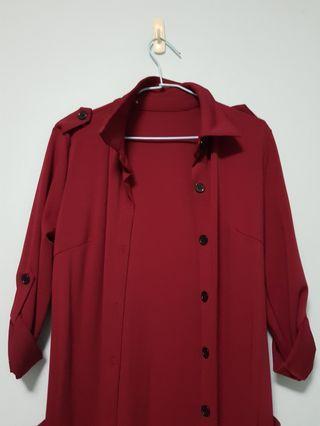 🚚 Red Coat / Long Blazer