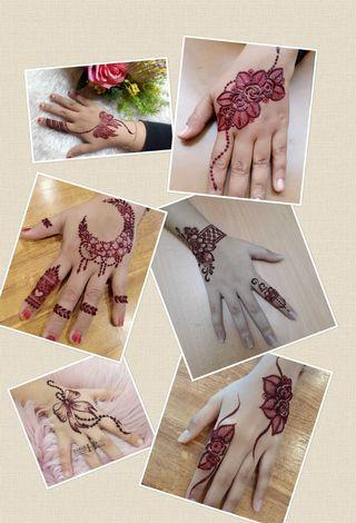 Red henna for Raya