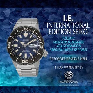 SEIKO INTERNATIONAL EDITION PROSPEX MONSTER AUTOMATIC 4TH GENERATION SRPD25K1