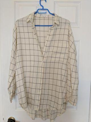 Oak & Fort Oversize Plaid Shirt