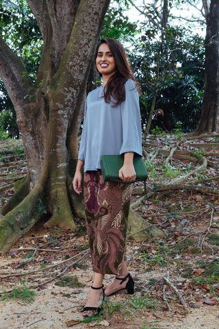 Alya Top in Grey // Camila Culottes in Olive