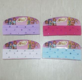 Winx club kid head band ..BN set of 4 pcs ..All 4 pcs for $3 . * FREE NORMAL MAIL *.
