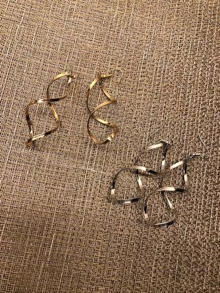 Anting Spiral Gold & Silver