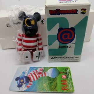 Bearbrick Series 31 Flag Malaysia figure