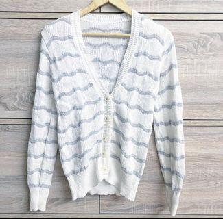 Stripe Knitted Cardigan