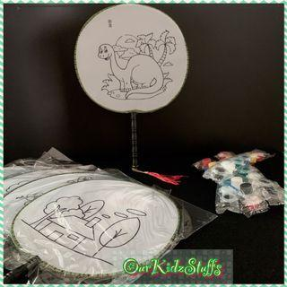 Party Supplies - DIY Hand Fan Painting