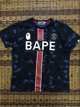 BAPE PSG tshirt